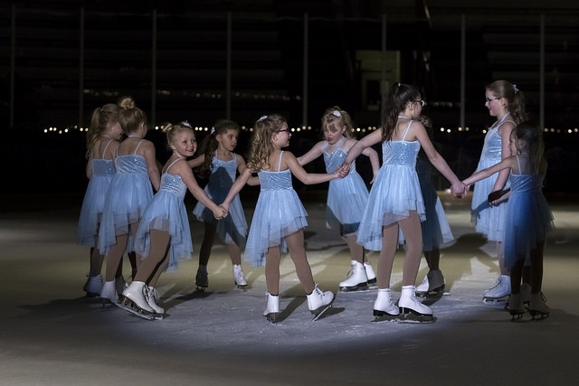 Children figure skating